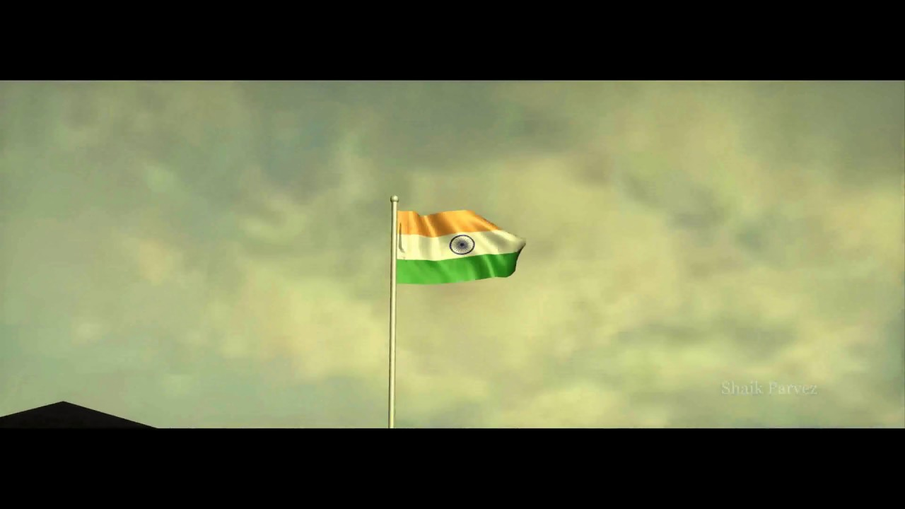 Indian Animated Flag Waving: Indian Flag Waving - 3D Animation Short Clip
