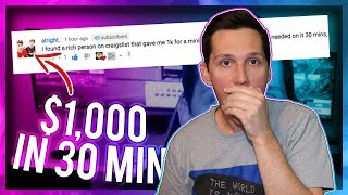This Kid Made $1000 Dollars In 30 Minutes [HERE'S HOW]