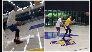 Lonzo Ball seems to have fixed his 3 point shot, Kyle Kuzma & Josh Hart also putting the work in