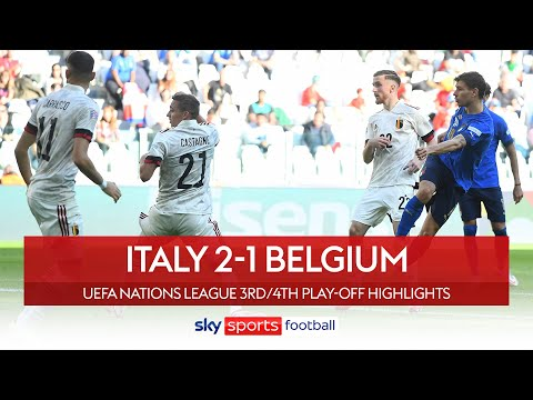 Barella's stunning volley helps Italy seal third 🥉 | Italy 2-1 Belgium | Nations League Highlights