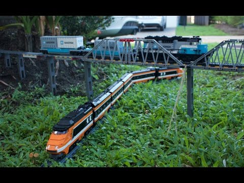 Awesome Lego Garden Railway and through the House 2017