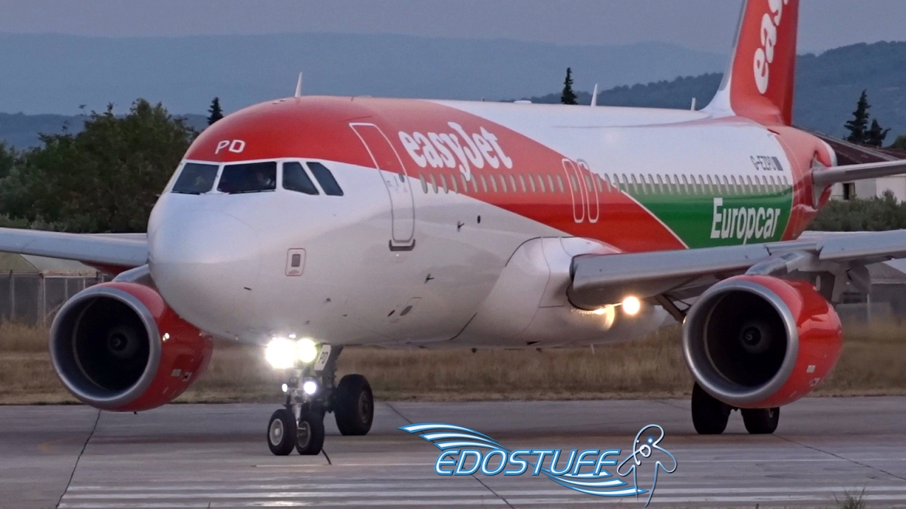Europcar Livery Easyjet Airbus A320 G Ezpd Takeoff From Split