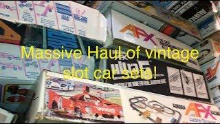 Slot Car Central! Big Buy, Little Cars. Digging up a massive collection of vintage slot cars!
