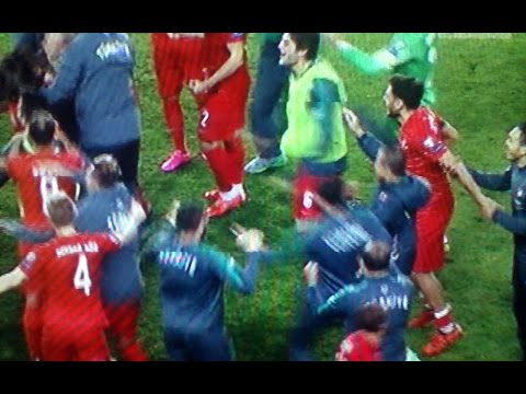 Turkey Iceland 1 0 Gol Inan - Exultation After Game Audio Fans- (Turchia Islanda 0 1 Euro 2016)