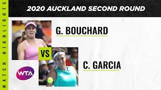Genie Bouchard vs. Caroline Garcia   2020 Auckland Open Second Round   WTA Highlights