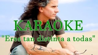 Pablo herrera - Eres Tan Distinta a Todas KARAOKE OFICIAL