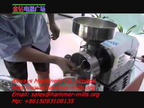 Mini Food Grain Grinder Machine Hammer Mill For Cacao Corn