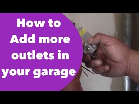 How to Add more outlets in your garage.