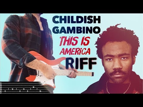 Guitar Study: Childish Gambino - This Is America Guitar Riff Lesson