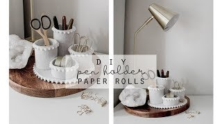 DIY Pen Holder | Stationery Organiser | Toilet Paper Roll Craft Up-cycle