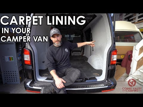 HOW TO PROFESSIONALLY LINE YOUR CAMPER VAN WITH 4-WAY STRETCH CARPET