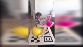Latające biurko i piłka