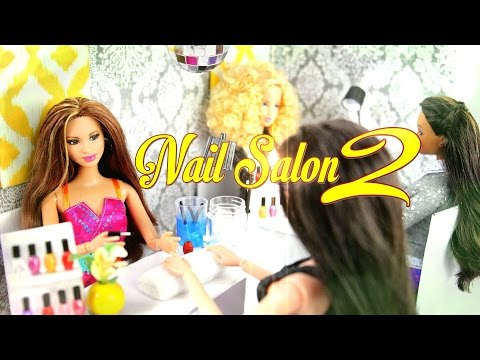 DIY - How to Make:  Doll Nail Salon 2:  Manicure Station - Handmade - Doll - Crafts