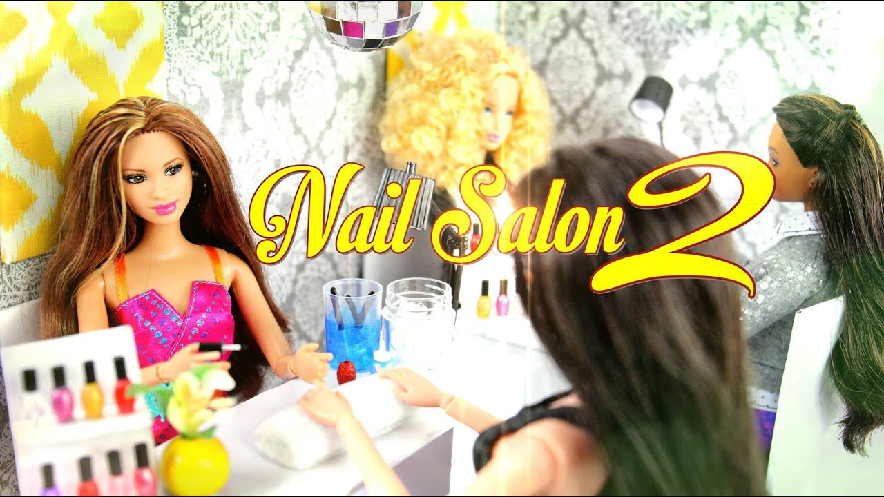 Diy How To Make Doll Nail Salon 2 Manicure Station Handmade Doll Crafts Youtube