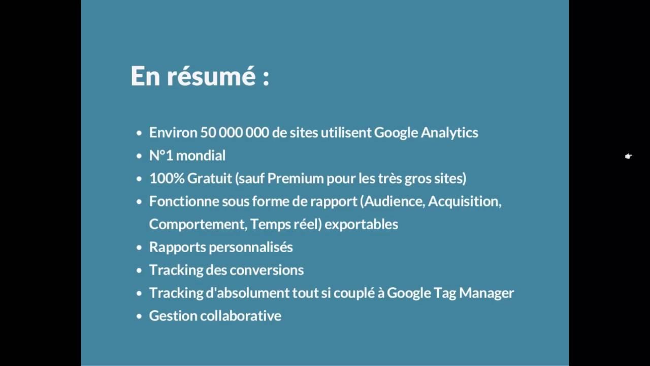 Google Analytics - Présentation