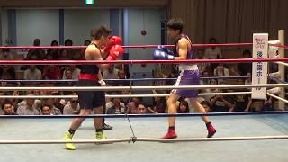 H30 7/14 LW級   慶応 森瑞季 対 立教 木戸口謙辰 関東リーグ2部 ボクシング