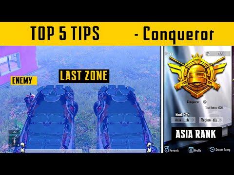 😤 Top 5 tips to Reach Conqueror - Conqueror Lobby Last Zone Surviving Ttrick in PUBG Mobile