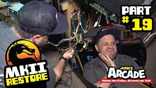 Mortal Kombat II Restore Part #19 - Bally Midway Arcade - Wiring, POLO monitor missing color