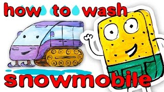 How to wash snowmobile / car wash / How to Draw a snowmobile