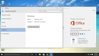How to Activate windows 10 and microsoft office 2016
