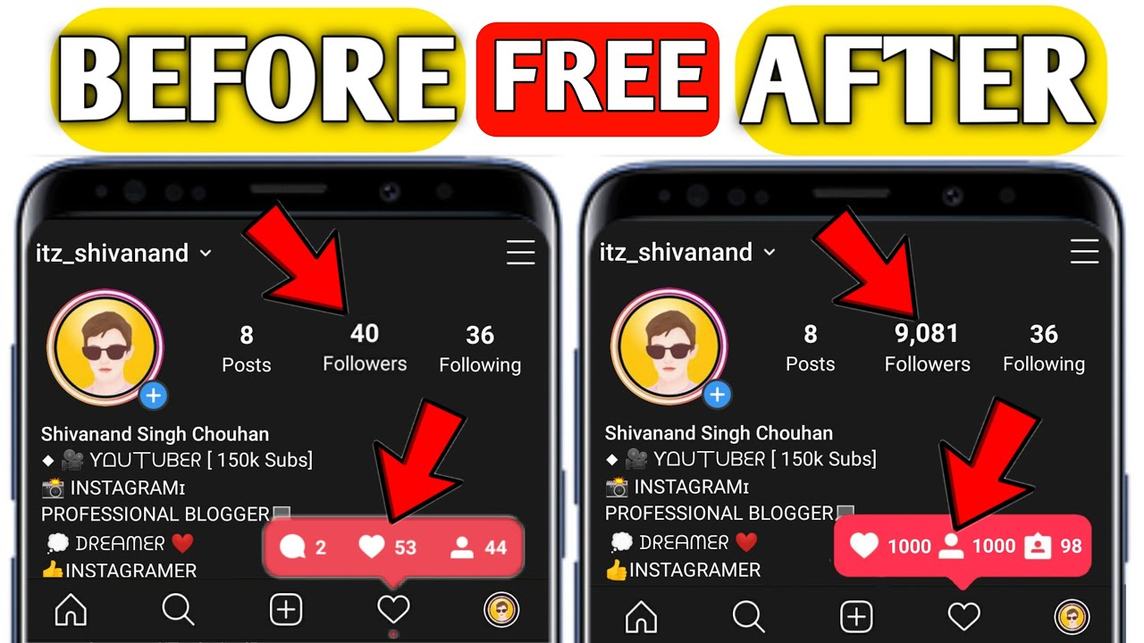 How To get Free Instagram Followers and Instagram Likes | 1 Minute 1000 Followers On instagram