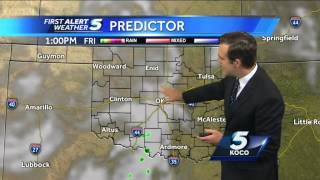 Morning rain possible, then a nice day