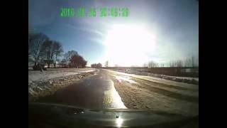 Момент подрыва автобуса в Волновахе, видео с регистратора очевидца. 13.01.15 Украина новости.