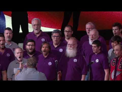 Portland Gay Men's Chorus sings National Anthem at Portland Trail Blazers Game