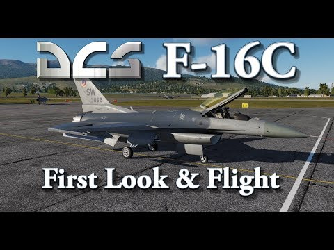 DCS - F-16C Viper - First Look & Flight