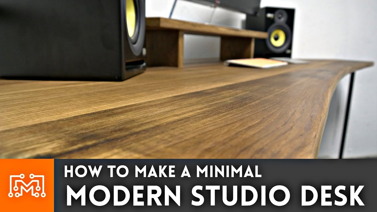 how to make a modern studio desk woodworking metalworking youtube