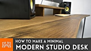 I needed a new minimal desk for my office/studio! See how some basic woodworking and metalworking came together! Subscribe ...