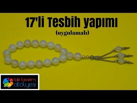 17' li Tesbih Dizilişi (Misinalı) - Takı Tasarım Atölyesi