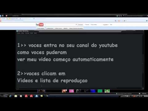 como  reproduzir o vídeo em destaque   Automaticamente  no youtube