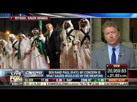Sen. Rand Paul on Saudi Arabia Arms Sales - May 24, 2017