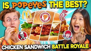 Teens React To The Ultimate Chicken Sandwich Challenge | Popeyes Vs Chick-Fil-A