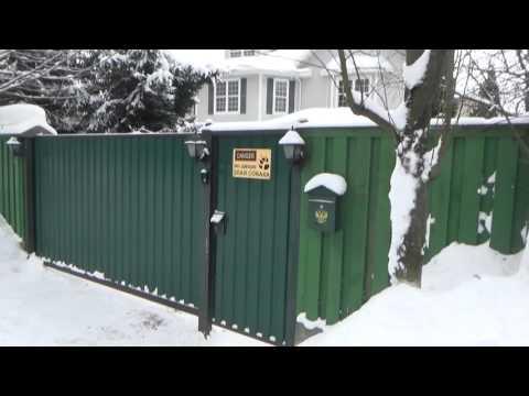Откатные ворота  без проблем  зимой 15 лет . 1 часть . / The rolling gates 1 part .