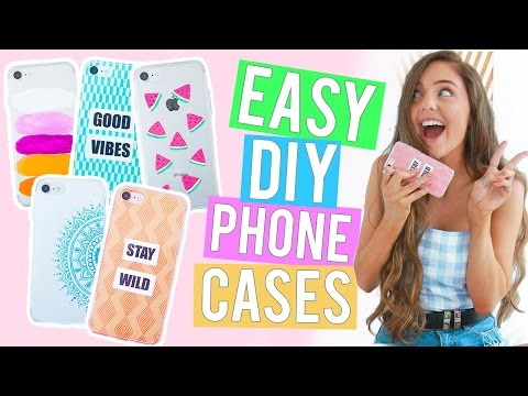 EASY DIY PHONE CASES 2017! Affordable iPhone Case Ideas You NEED!