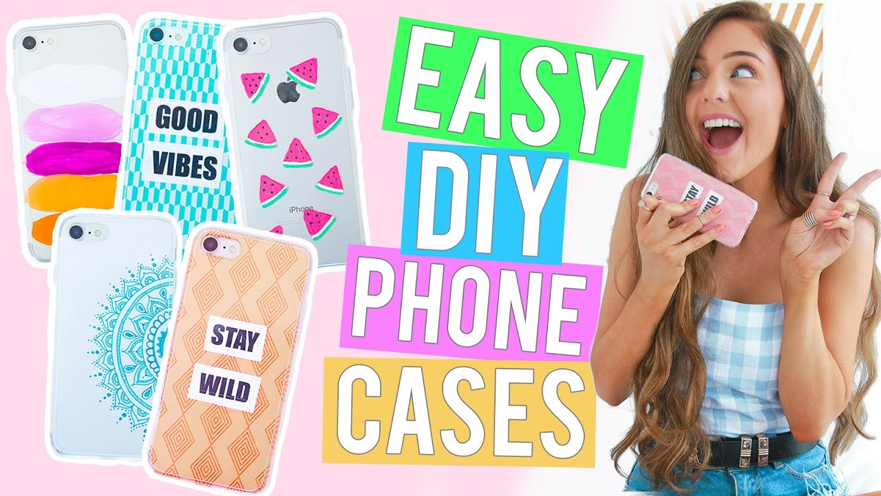 7d95b08ced EASY DIY PHONE CASES 2017! Affordable iPhone Case Ideas You NEED ...