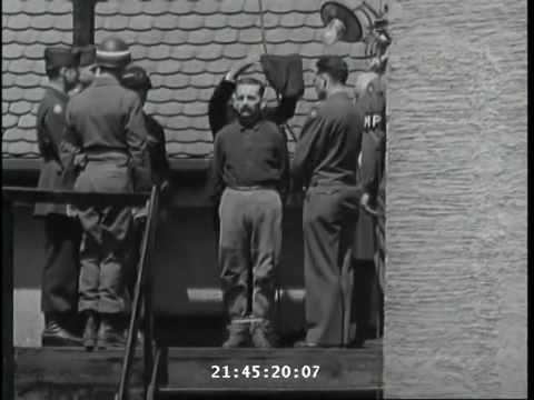 Ejecution Ejecucion del SS Johann Viktor Kirsch en Landsberg,28 de mayo de 1946.