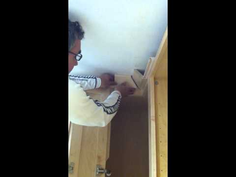 Installing Kraftmaid Crown Molding. Deveron Maple