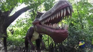 Dinosaur Park Life size TyRex Raptors Tryceratops