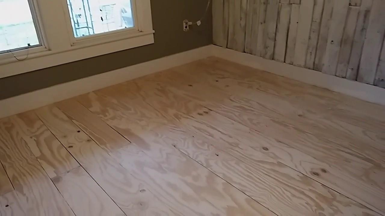Plywood flooring DIY - YouTube