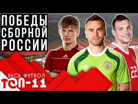 Топ 11 лучших побед сборной России по футболу