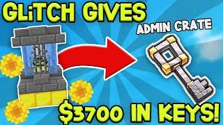 GLITCH GIVES US $3750 WORTH OF CRATEKEYS! | Minecraft Skyblock
