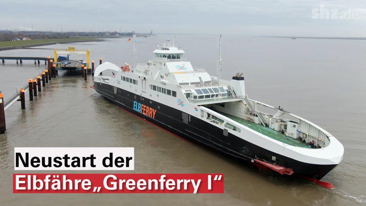 """Jungfernfahrt der """"Greenferry I"""" von Brunsbüttel nach Cuxhaven"""