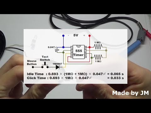 Revised] How to make an Auto Click Mouse Circuit - YouTube