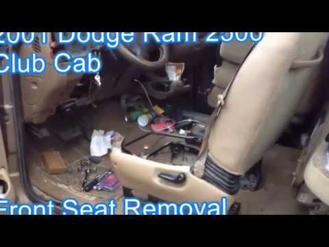 Front Seat Removal 2001 Dodge Ram Club Cab Pickup Youtube