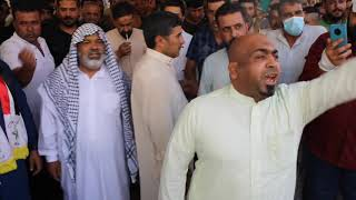 زيارة الشيخ خميس الخنجر يوم الجمعة الى مضيف الشيخ صلاح مزاحم الجبوري في قره تبة.