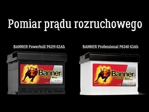 Pomiar Prądu Rozruchowego Banner PowerBull 62Ah I Banner Professional 63Ah