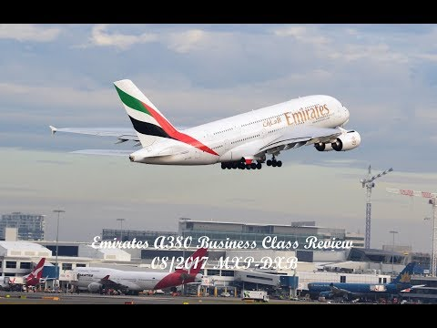 Emirates A380 Business Class Review Milan to Dubai (4K)